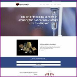 Medical Supplies Shop Online Business Website For Sale Hosting Domain