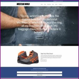 Wrestling Shop Home Based Make Money Website Business For Sale