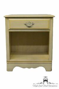 Ethan Allen Hand Decorated Nightstand 423 Antique White Finish 14 5106