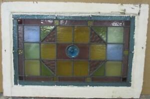 Victorian English Leaded Stained Glass Window Colorful Victorian 23 25 X 15 5