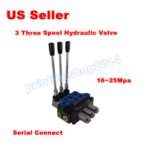 3 Three Spool Hydraulic Valve 10gpm 40l min For Tractor Forklift Excavator