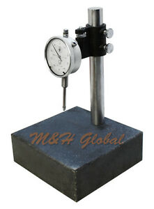 Granite Check Stand Comparator Base Surface Plate 6x6 And Dial Indicator