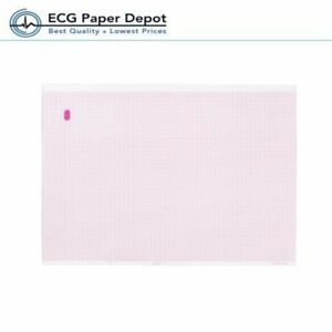 Ecg Ekg Recording Marquette Paper 2 Packs Sheet 8 44 X 11 Inches Z fold Thermal