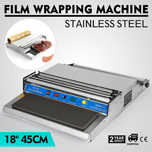 18 Food Tray Film Wrapper Wrapping Machine Sealer Frozen Stretcher Sealing