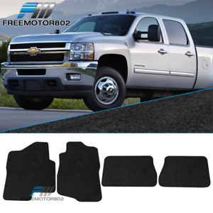 Fits 07 13 Chevy Silverado Sierra Tahoe Yukon Floor Mats Carpet 4 pc Black Nylon