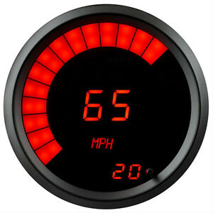 3 3 8 Universal Speedometer Tachometer Combo Gauge Red Led Black Bezel