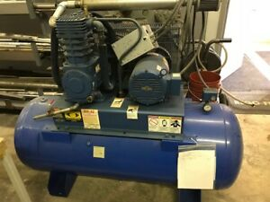 Quincy 10 Hp 2 stage Air Compressor 120 gallon Horizontal