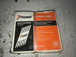 Paslode Shank Paper Tape Framing Nails 30 Degree Brite 9477