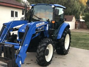 Tractor 75hp New Holland T4 75 With Bucket Enclosed Cab In Out Immaculate
