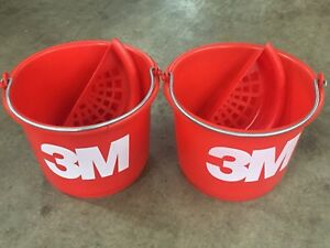 2 Brand New 3m 02513 Wetordry Red Buckets Makes Wet Sanding Much Easier 2513