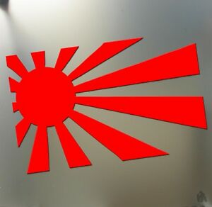 Rising Sun Japan Funny Sticker Racing Jdm Car Honda Flag Window Decal