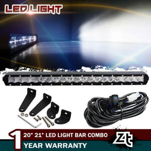 Slim 20inch Cree Single Row Led Light Bar Combo Driving Fog Lamp Bumper 21 22