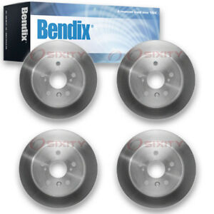 4 Pcs Bendix Prt5712 Brake Rotor Pair Left Right Disc Pgd5712 Mx5712 Ap