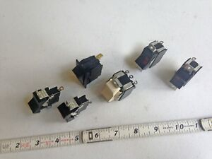 Six Vintage Rocker Switches Nos