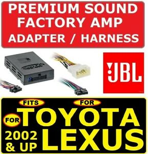 For 02 Up Toyota Lexus Car Stereo Radio Premium Sound Amp Adapter Jbl