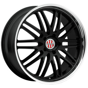 22 Inch Victor Equipment Lemans 22x10 5x130 50mm Gloss Black Wheel Rim