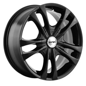 4 New 14 Inch Touren Tr22 14x6 4x100 4x114 3 40mm Gloss Black Wheels Rims