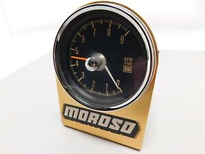 Stewart Warner Sw Vintage Cable Driven Tachometer Tach With Mount