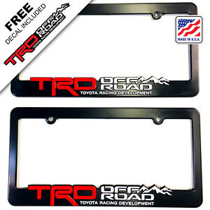 Trd license plate frame toyota trd offroad tacoma fj cruiser 4x4 off road rally