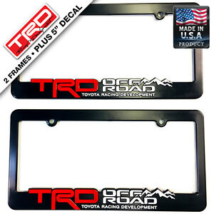 Trd License Plate Frame Toyota Trd Offroad 4x4 Takoma Fj Cruiser Yaris Rally Car