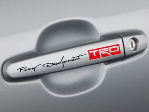 Racing Development Trd Door Handle Decal Sticker Tacoma Tundra 86 Camry Yaris