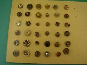Vintage Button Collection 36 Very Old Buttons Metal 3 8 To 3 4