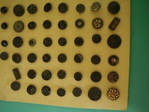 Old Button Collection 46 Black Dress Buttons 1 Of Each 1 2 To 3 4