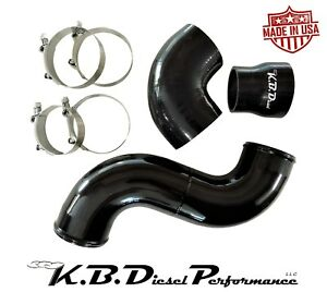 Gloss Black Turbo To Kbdp Intake Connector Tube 6 5l Diesel Chevy Gmc