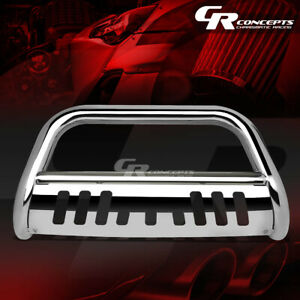 Chrome 3 Bumper Grille grill Guard For 07 14 Chevy Suburban Tahoe Avalanche