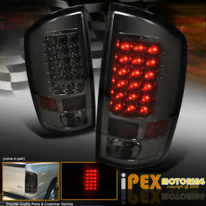 Brightest Smoke Led Tail Lights For 2002 2006 Dodge Ram 1500 2500 3500 Truck