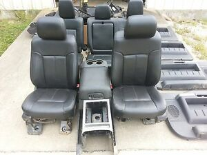 13 Ford F 350 Super Duty Lariat Leather Seats Door Panels Console Carpet
