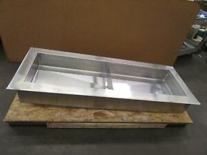 71 x26 x9 25 Insulated Stainless S s Drop In Cold Food Drink Ice Well Bar