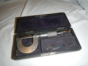 Vtg Brown And Sharpe Micrometer Caliper Measurement Tool No 8 Pat Date 1902