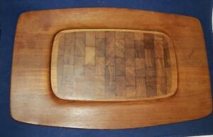 Vintage Dansk Teak Cheese Tray Cutting Board Quistgaard Denmark Excellent 19x12