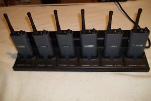 6 Motorola Spirit Pro Sv120 Vhf Two way Radios 2 Channel With A 6 Unit Charger