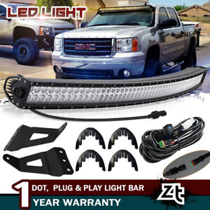 Dot 2007 13 Gmc Sierra 1500 2500 3500hd Roof Brackets 50 Curved Led Light Bar
