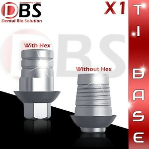 1x Cad cam Ti base For Dental Implant With Without Hex Zirkonzahn Compatible