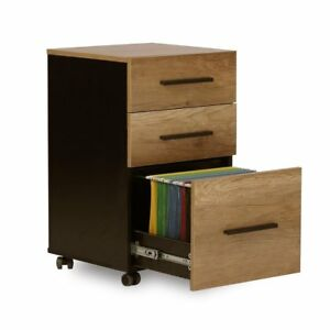 Orford Home Office Decor 3 Drawer Wood File Cabinet Storage Organizer Furniture