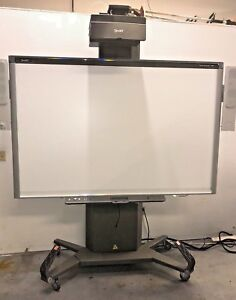 87 Sbx885 Smart Board And Ux80 Projector With Adj Mobile Stand Interactive