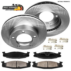 For 1994 1995 1996 Ford Bronco F150 Front Brake Disc Rotors And Ceramic Pads