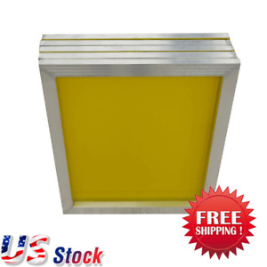Usa 6pcs 18 X 20 Aluminum Silk Screen Printing Frame With 230 Yellow Mesh