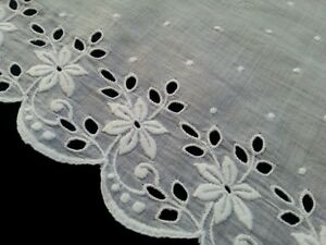 Antique Lace Flounce Edging Trim Edwardian Sewing French Clothes Costume
