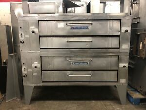 Bakers Pride Y602 Double stacked Gas Pizza Deck Ovens 60 Deck Refurbished