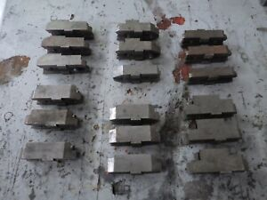 Lot 2 6 Sets Of 3 Piece Chuck Jaws Hardinge Lathe Ajax Clausing
