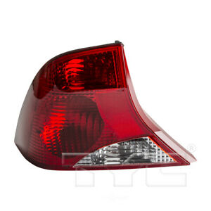 Left Tail Light Assembly For 2000 2003 Ford Focus 2001 2002 Tyc 11 5376 81