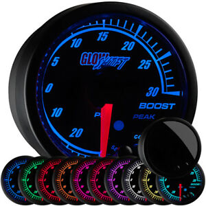 52mm Turbo Boost Vacuum Vac Gauge W Glowshift Black Elite 10 Color Display