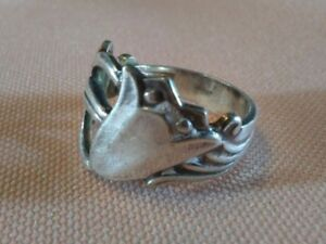 Marthinsen Norway Silver Spoon Ring Ornate Floral Cutouts Size 4