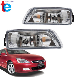 Pair Clear Bumper Driving Fog Light Kit For Honda Accord 4dr Sedan 2003 2007