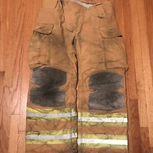 Lion Janesville Firefighter Turnout Gear Bunker Pants W Liner 36 X 30