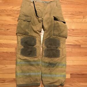 Lion Janesville Firefighter Turnout Gear Bunker Turnout Pants W Liner 34 X 30